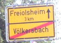 ortsschild völkersbach ausgang freiolsheim